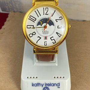 Vintage NOS Kathy Ireland Moon Phase Watch